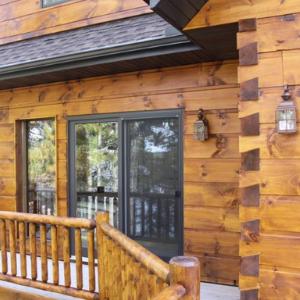 Medienos dažai dažyvė fasadams tvoroms langams rastams mediniam namui
