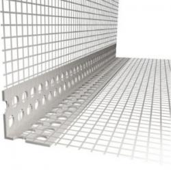 PVC kampas su tinkleliu fasado armavimui