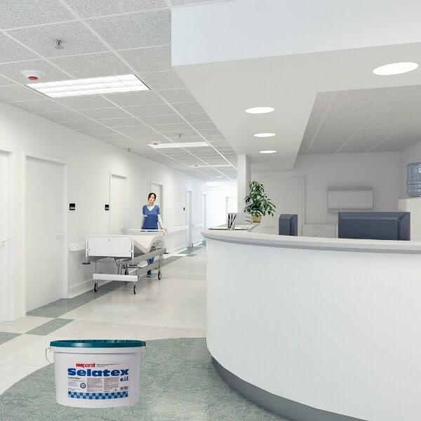 Dažai ligoninėms klinikoms sienoms itin atsparūs
