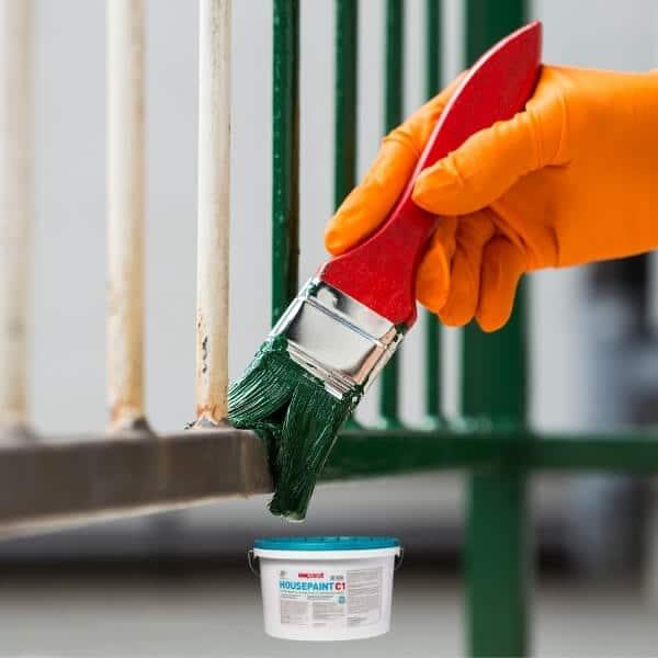 Dažai metalinei tvorai dažyti imparat Housepaint