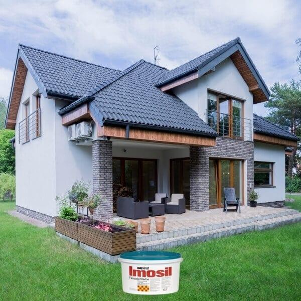 Impratai imosil dažai namui fasadui pamatui