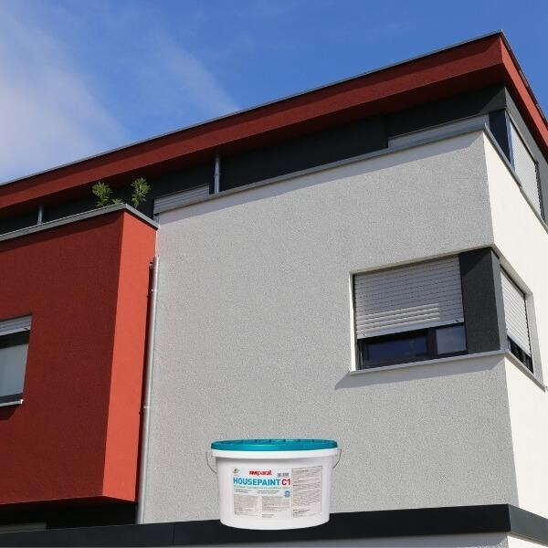 Kokybiški Vokiški dažai fasadaui namui pamatui