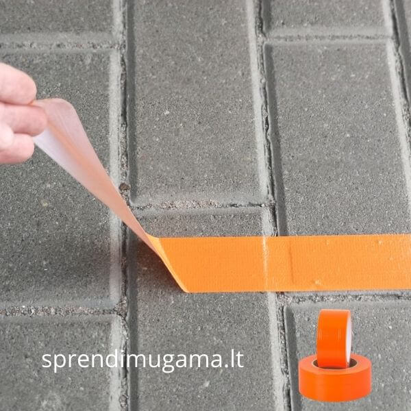Lipni juosta trinkelėms klinkerio plytelėms oranžinė