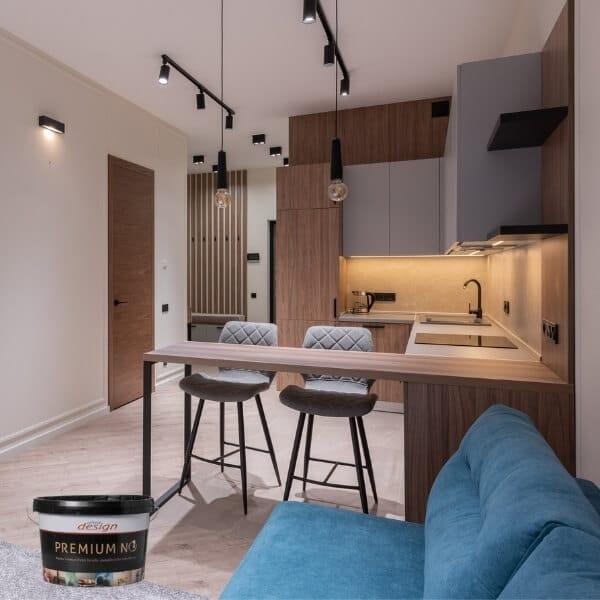 Matiniai plaunami valomi dažai virtuvės sienoms