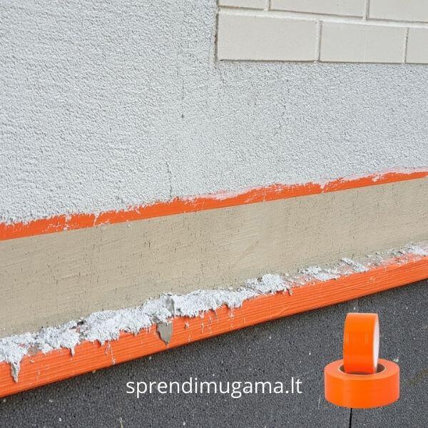Oranžinė lipni juosta tinkavimui dažymui glaistymui kaina