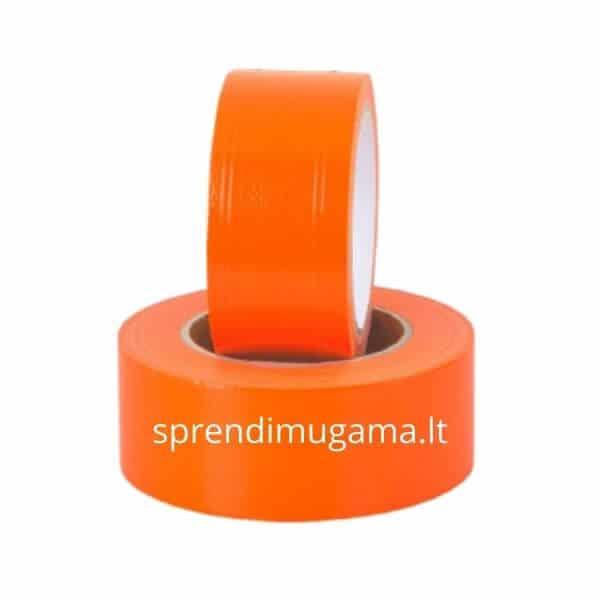 Oranžinė lipni juosta tinkavimui dažymui lauko ir vidaus darbams