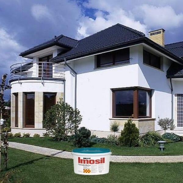 Vokiški dažai fasadui namui pamatui imosil