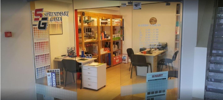 Specializuota dekoratyvinio tinko ir dažų parduotuvė