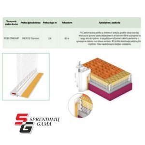 EJOT Deformacinis profilis fasadui 3D kaina