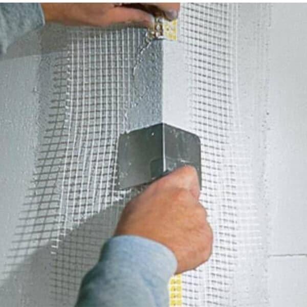 PVC kampas su tinkleliu fasado armavimui kaina