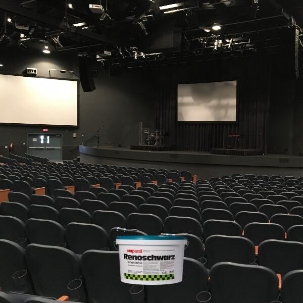 Juodi dažai teatrams kino salėms scenoms kino tatrams